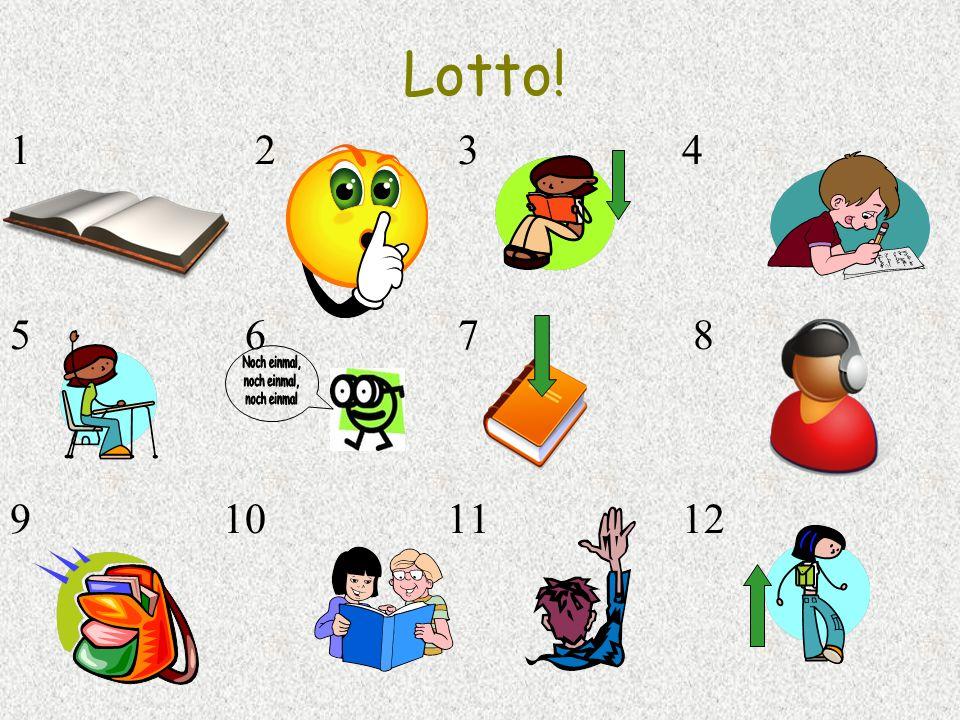 Lotto! 1 2 3 4 5 6 7 8 9 10 11 12
