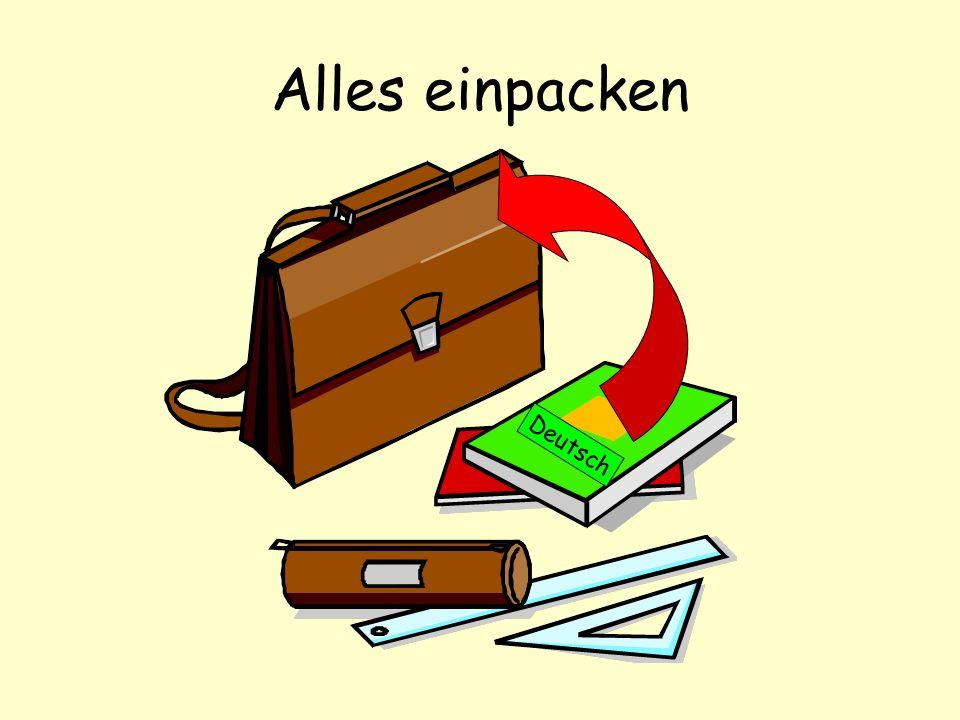 Alles einpacken Deutsch