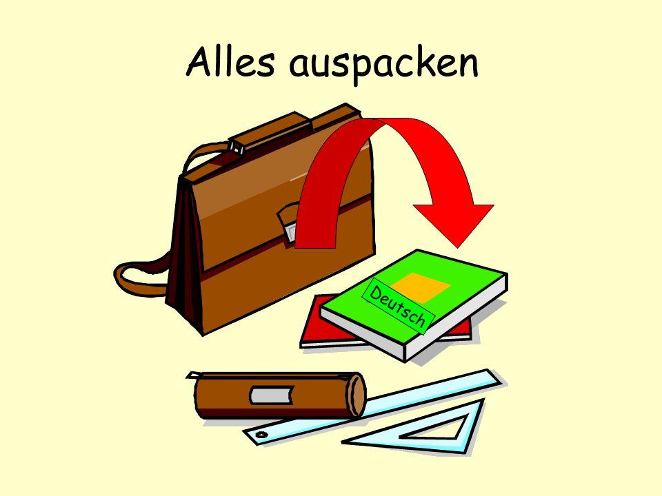 Alles auspacken Deutsch