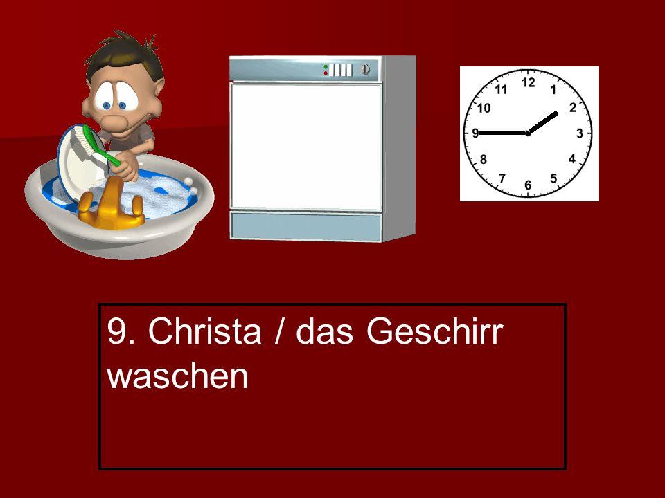 9. Christa / das Geschirr waschen