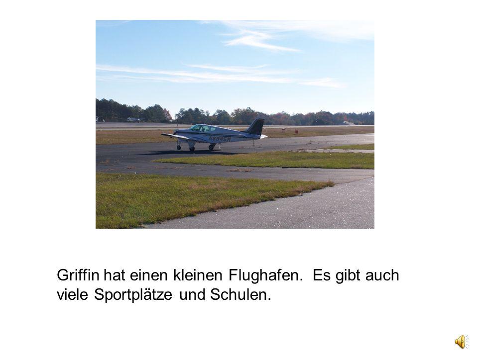 Griffin hat einen kleinen Flughafen. Es gibt auch viele Sportplätze und Schulen.