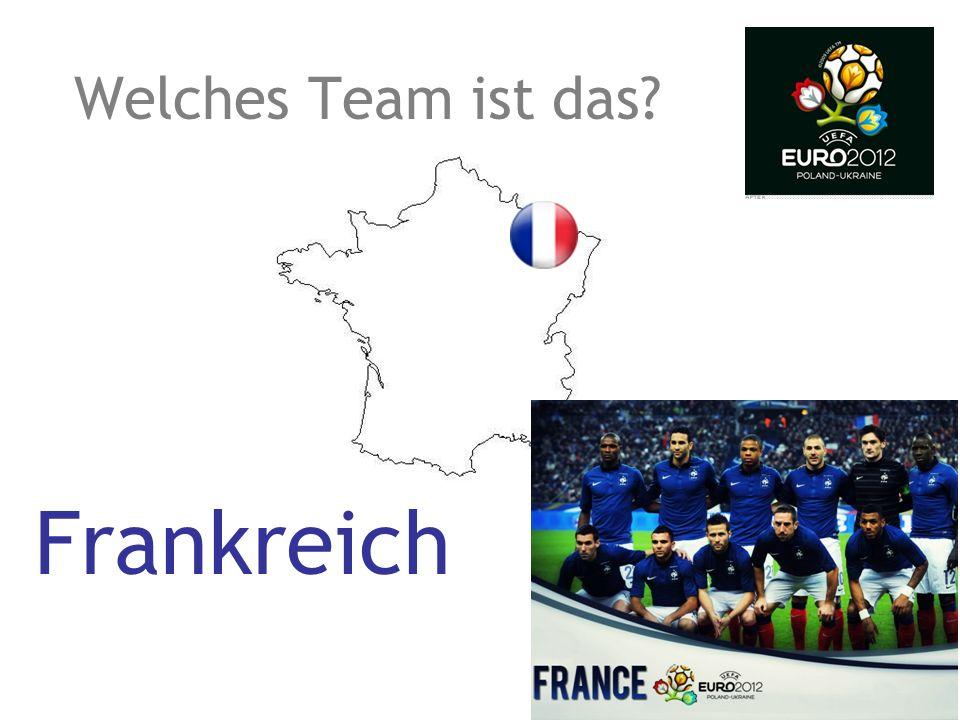 Welches Team ist das? Frankreich