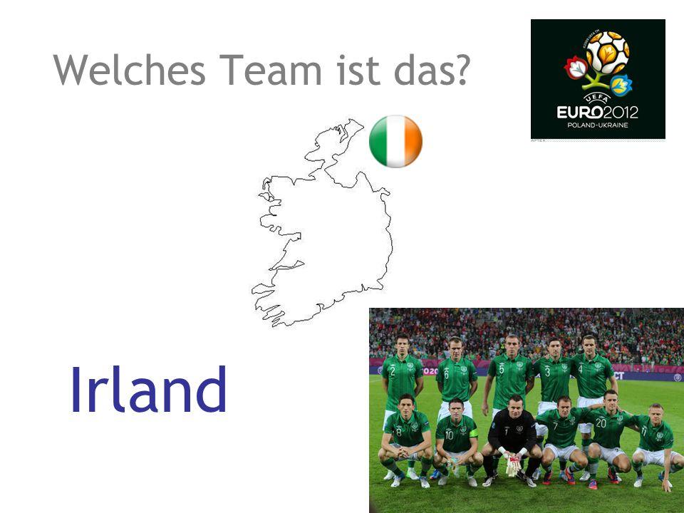 Welches Team ist das? Irland