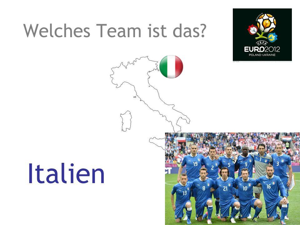 Welches Team ist das? Italien