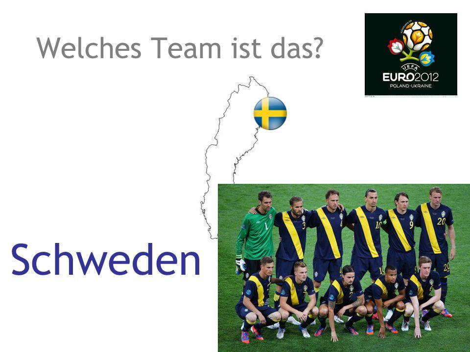 Welches Team ist das? Schweden
