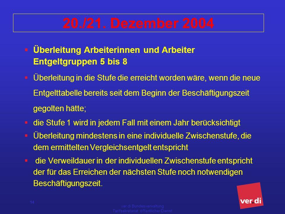 ver.di Bundesverwaltung Tarifsekretariat öffentlicher Dienst 14 20./21.