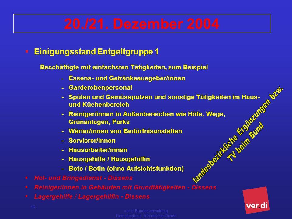 ver.di Bundesverwaltung Tarifsekretariat öffentlicher Dienst 16 20./21.