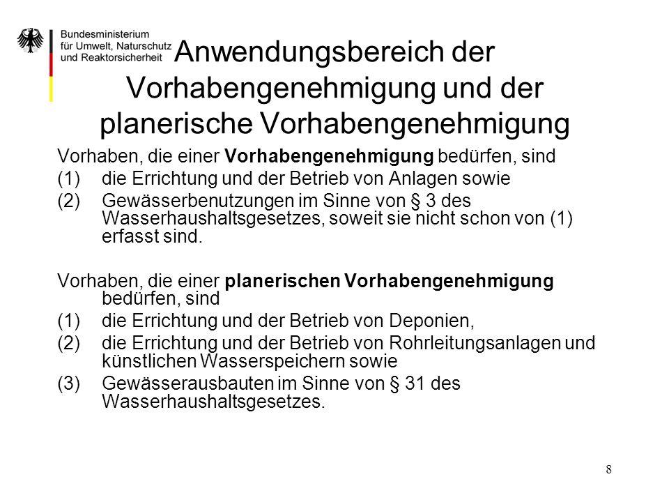 8 Anwendungsbereich der Vorhabengenehmigung und der planerische Vorhabengenehmigung Vorhaben, die einer Vorhabengenehmigung bedürfen, sind (1)die Erri