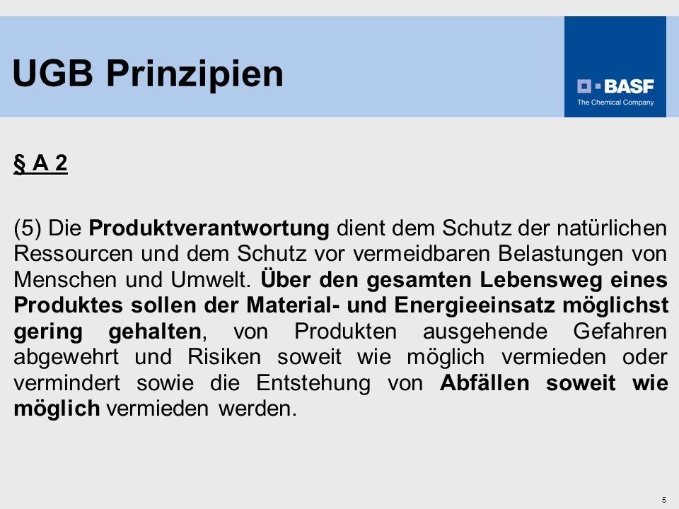 5 § A 2 (5) Die Produktverantwortung dient dem Schutz der natürlichen Ressourcen und dem Schutz vor vermeidbaren Belastungen von Menschen und Umwelt.