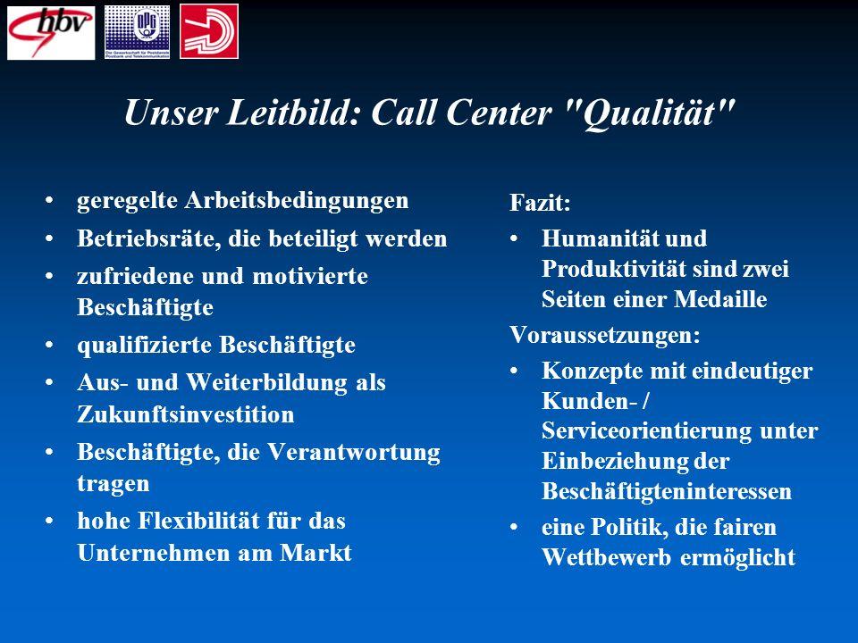 Unser Leitbild: Call Center