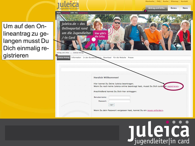 Antrag abgelehnt – Keine Panik Falls Dein Antrag vom zuständigen Träger abgelehnt wurde wirst Du per Mail informiert Du wirst über die Gründe der Ablehnung informiert Das ist zwar ärgerlich, aber niemals persönlich gemeint, sondern immer aufgrund der Erlasslage des JuLeiCa Er- lasses Du kannst auf jeden Fall – sobald die Bedingungen des JuLeiCa Erlasses erfüllt sind – einen neuen Antrag stellen