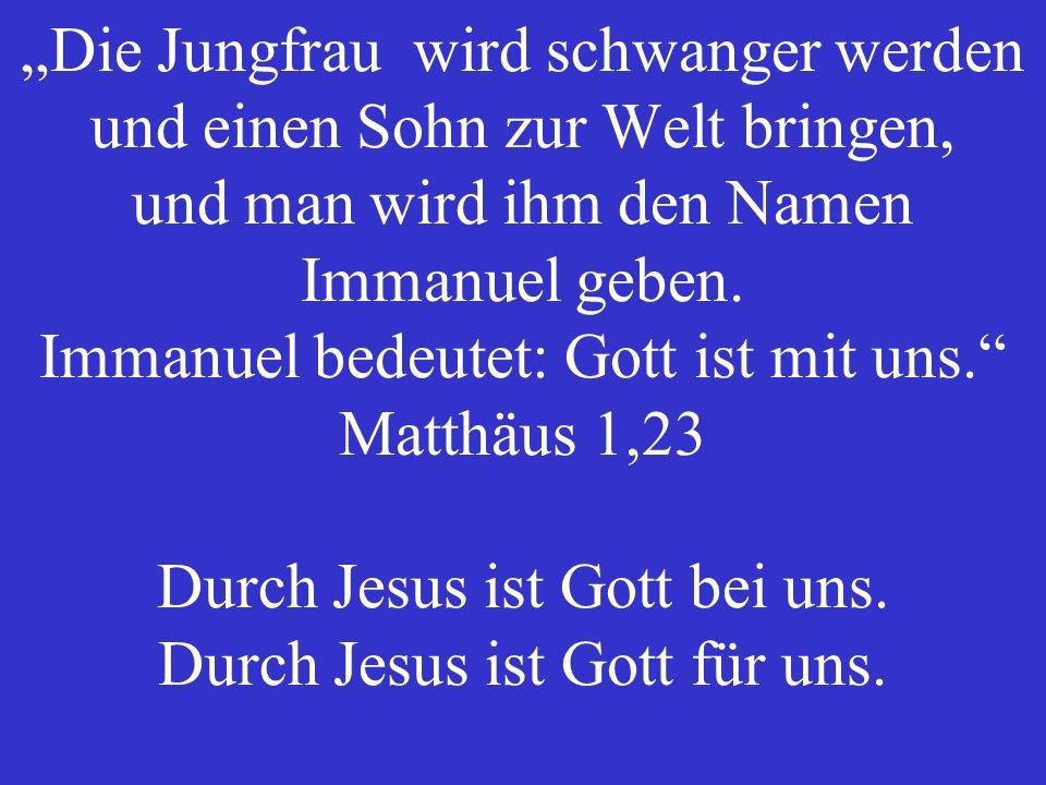 Der liebe Gott ist nur über Jesus zu haben. Ausserhalb von Jesus begegnet uns der richtende Gott.