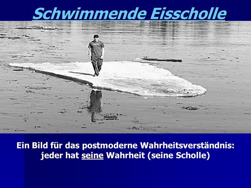 Schwimmende Eisscholle Ein Bild für das postmoderne Wahrheitsverständnis: jeder hat seine Wahrheit (seine Scholle)