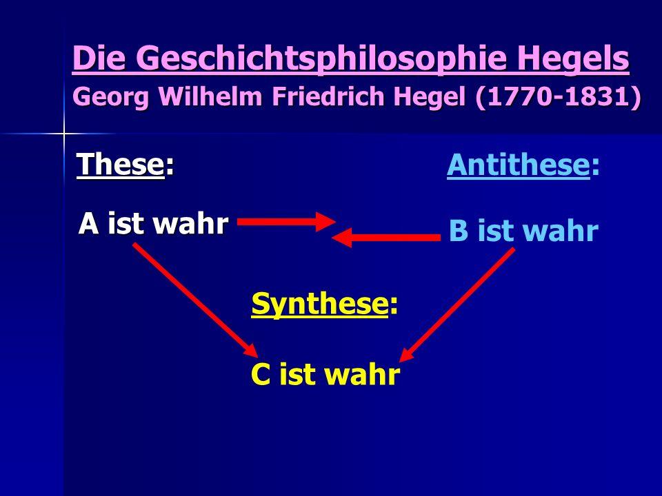 Die Geschichtsphilosophie Hegels Georg Wilhelm Friedrich Hegel (1770-1831) Die Geschichtsphilosophie Hegels Georg Wilhelm Friedrich Hegel (1770-1831)
