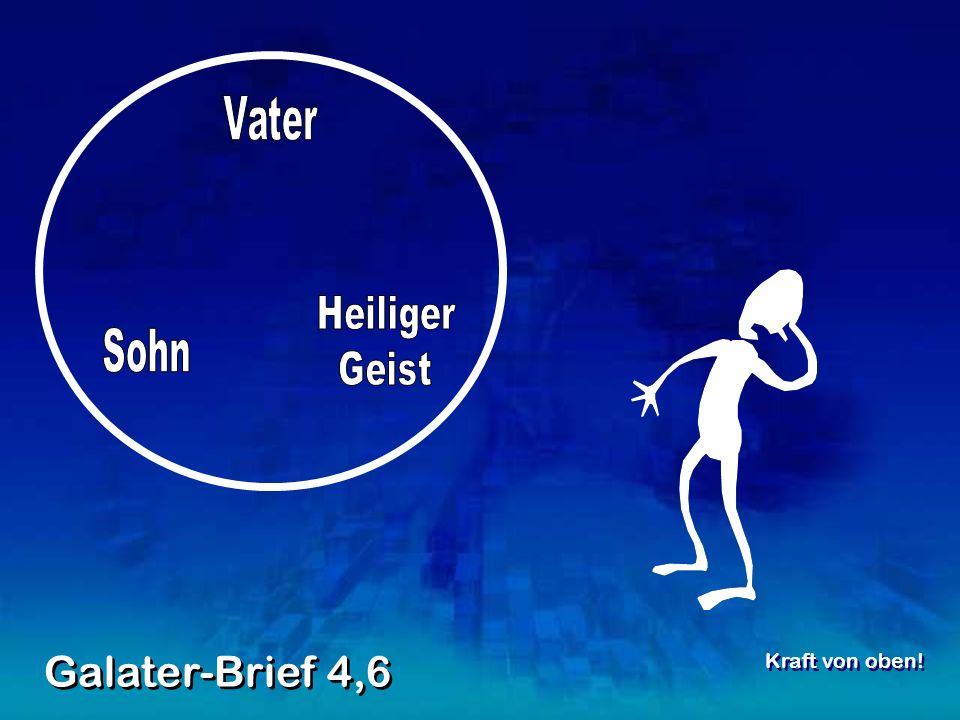 Galater-Brief 4,6 Kraft von oben!