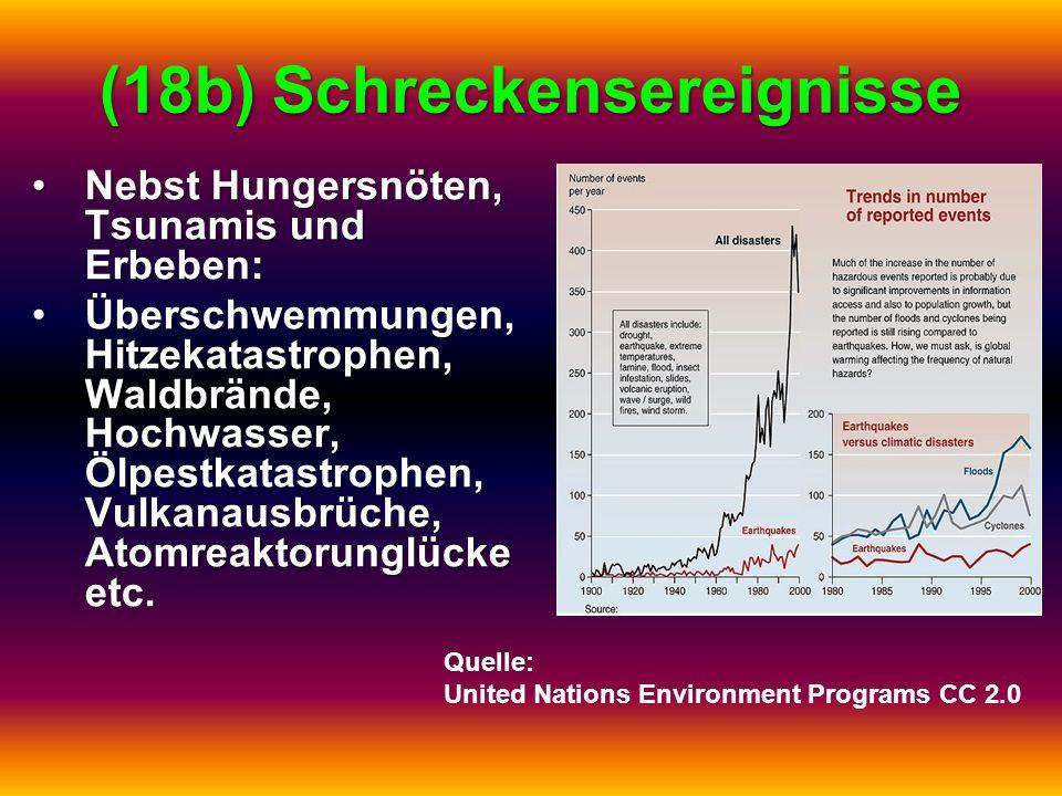 (18b) Schreckensereignisse Nebst Hungersnöten, Tsunamis und Erbeben:Nebst Hungersnöten, Tsunamis und Erbeben: Überschwemmungen, Hitzekatastrophen, Wal