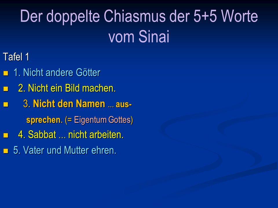 Der doppelte Chiasmus der 5+5 Worte vom Sinai Tafel 2 6.