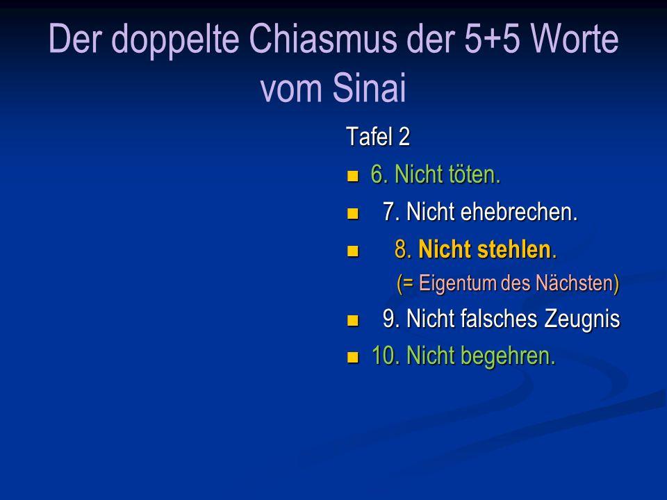Der doppelte Chiasmus der 5+5 Worte vom Sinai Tafel 1 1.