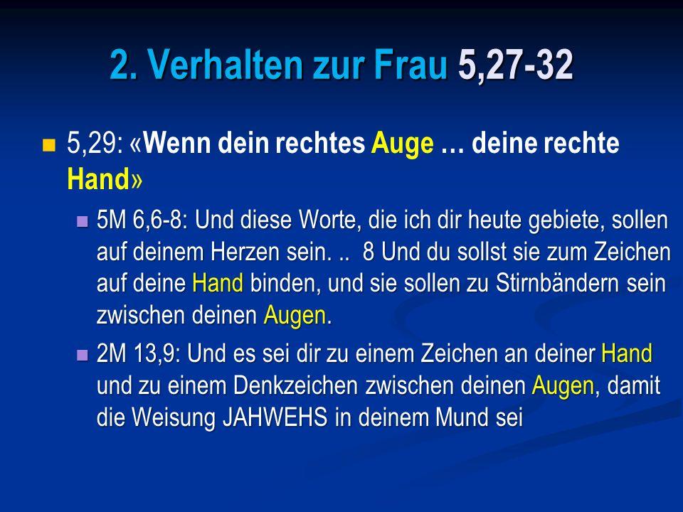 4M 15,39: … dass ihr … euch an alle Gebote JAHWEHS erinnert und sie tut, und dass ihr nicht umherspäht eurem Herzen und euren Augen nach, denen ihr nachhurt.