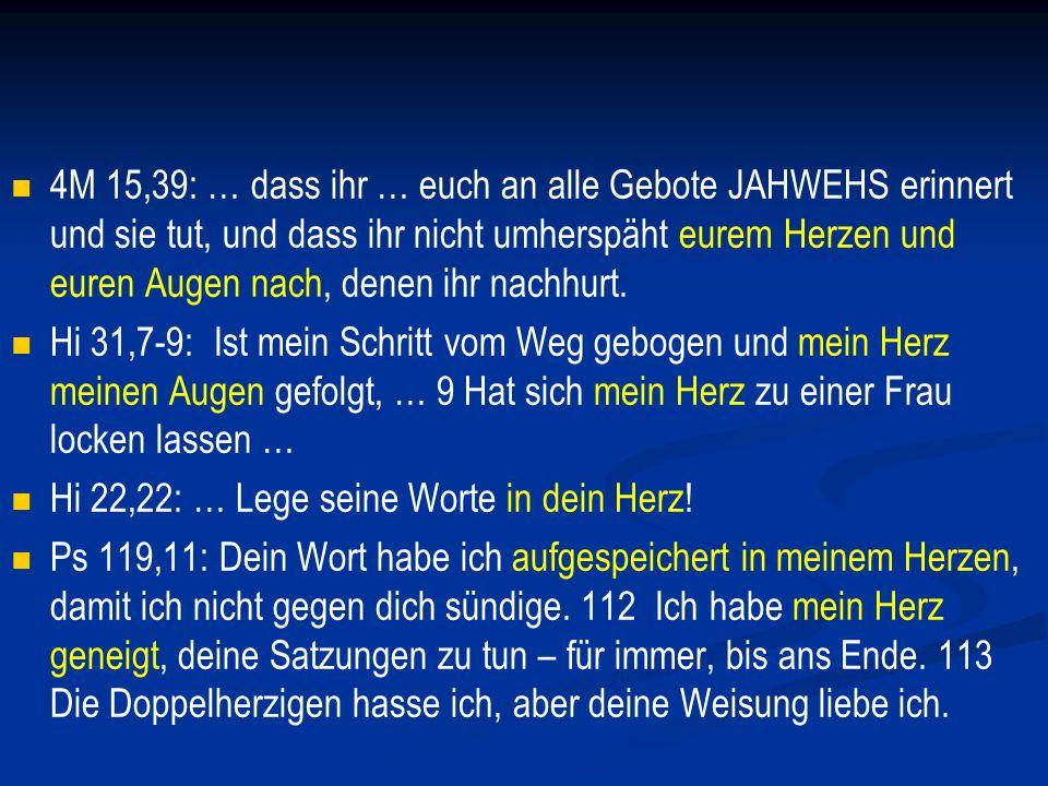 Spr 4:20-23: Mein Sohn, merke auf meine Worte.Zu meinen Worten neige dein Ohr.