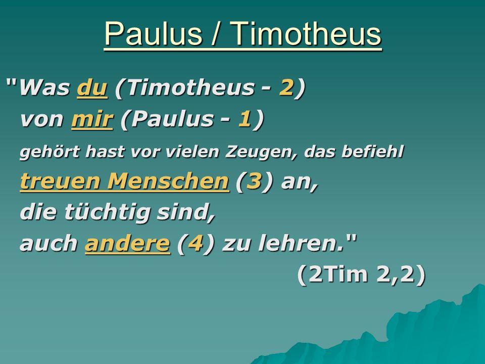 Paulus / Timotheus