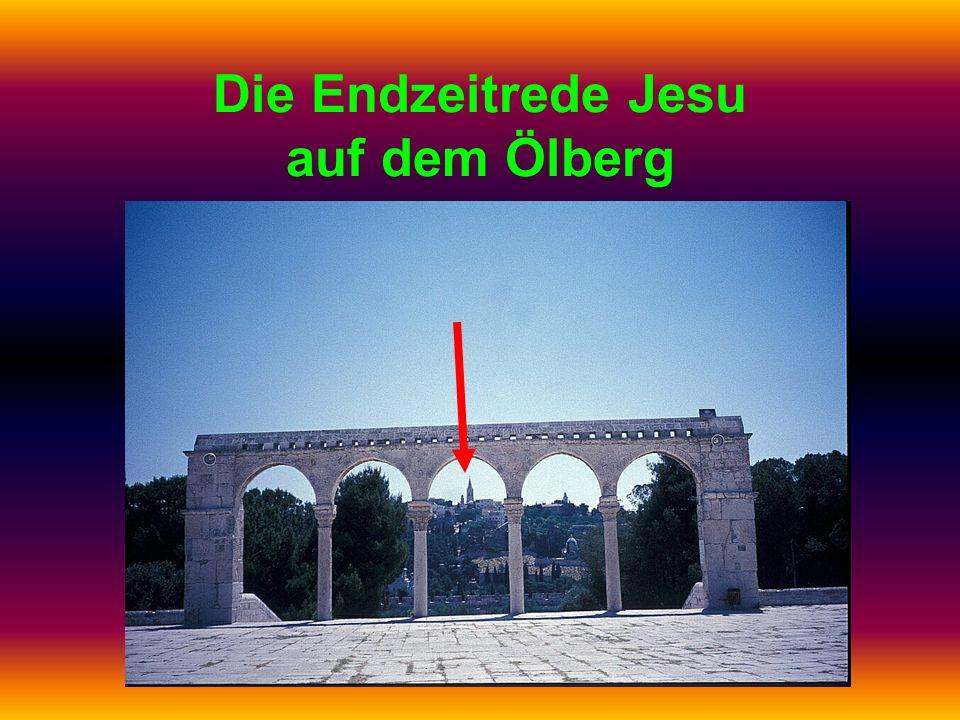 Die Endzeitrede Jesu auf dem Ölberg