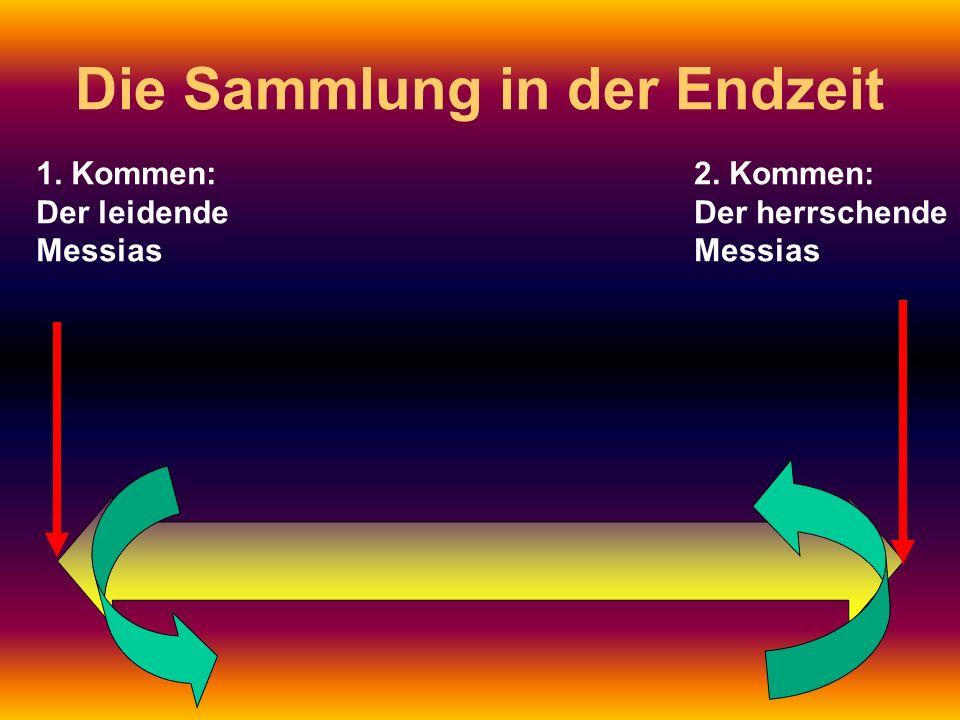 1. Kommen: Der leidende Messias 2. Kommen: Der herrschende Messias Die Sammlung in der Endzeit