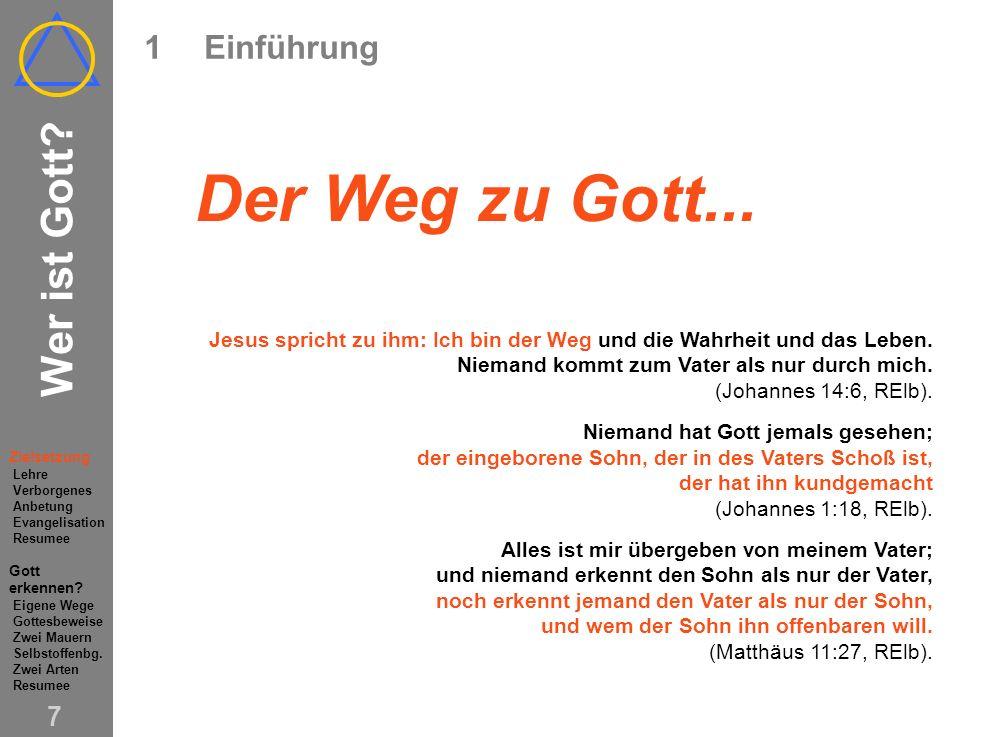 Wer ist Gott.6 1Einführung Wer ist Gott.