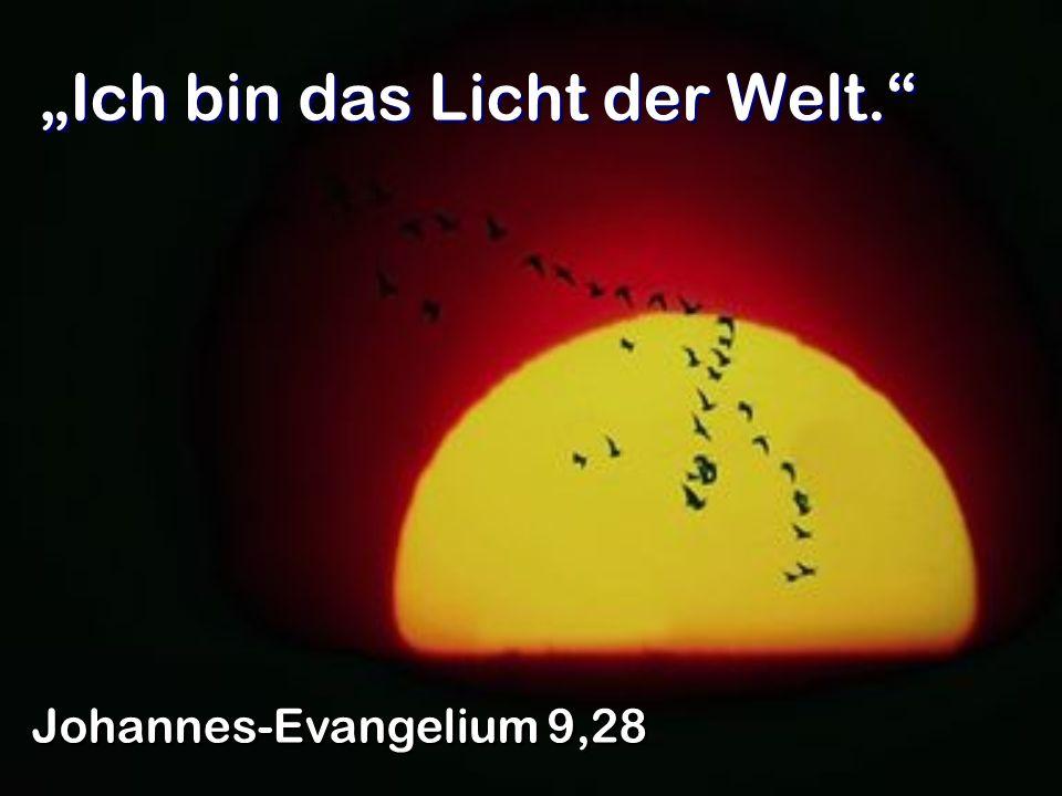 Ich bin das Licht der Welt. Johannes-Evangelium 9,28