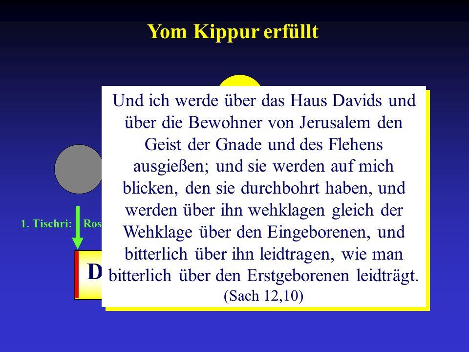 1. Tischri: Rosh ha-Schana 10. Tischri: Yom-Kippur 15.-21. Tischri: Sukkot Drangsalszeit Und ich werde über das Haus Davids und über die Bewohner von
