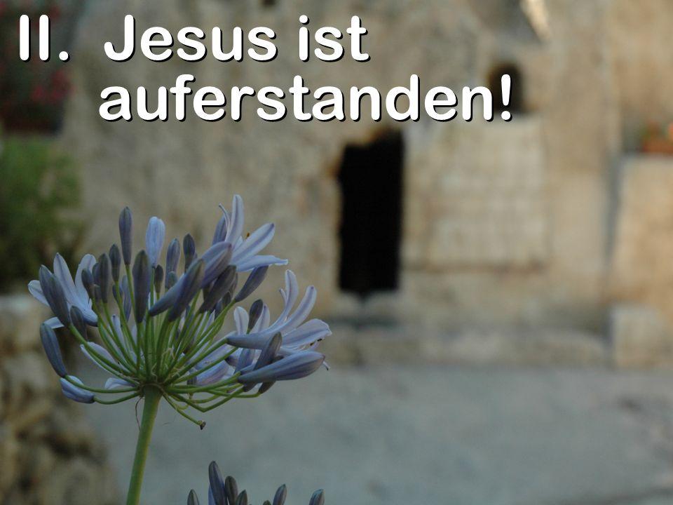 II. Jesus ist auferstanden!