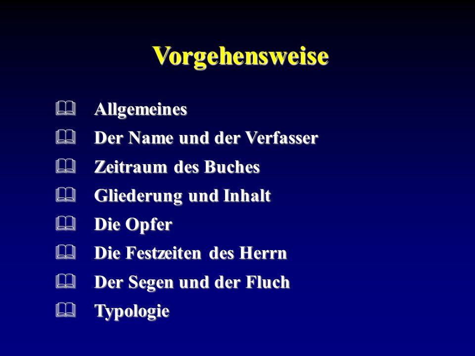 Name und Verfasser Der Verfasser:Wir dürfen davon ausgehen, dass Mose der Verfasser dieses Buches war.