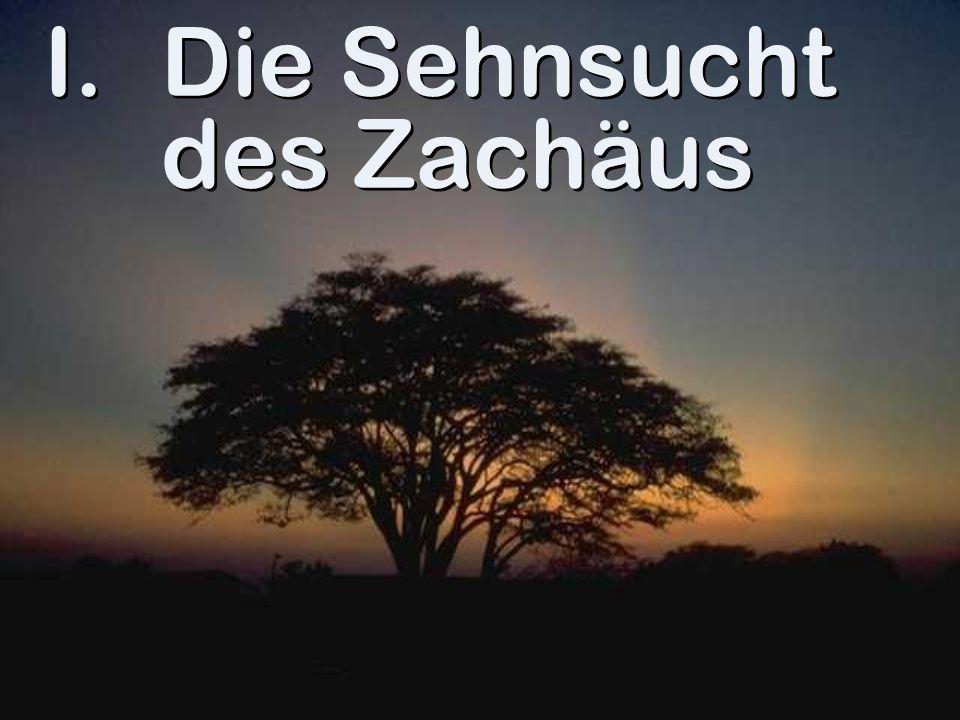 I.Die Sehnsucht des Zachäus