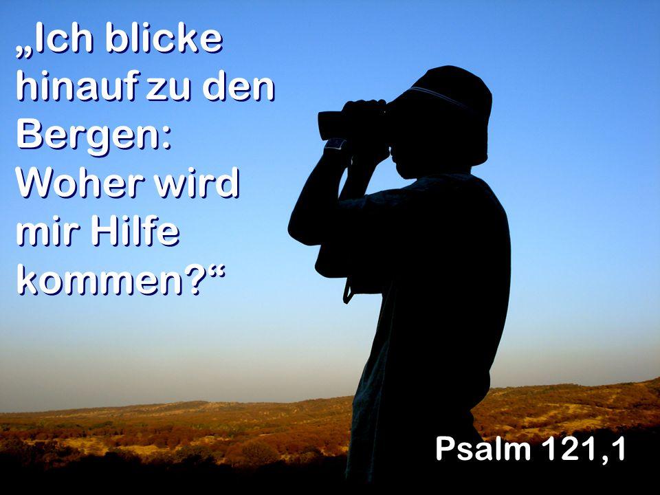 Ich blicke hinauf zu den Bergen: Woher wird mir Hilfe kommen? Psalm 121,1