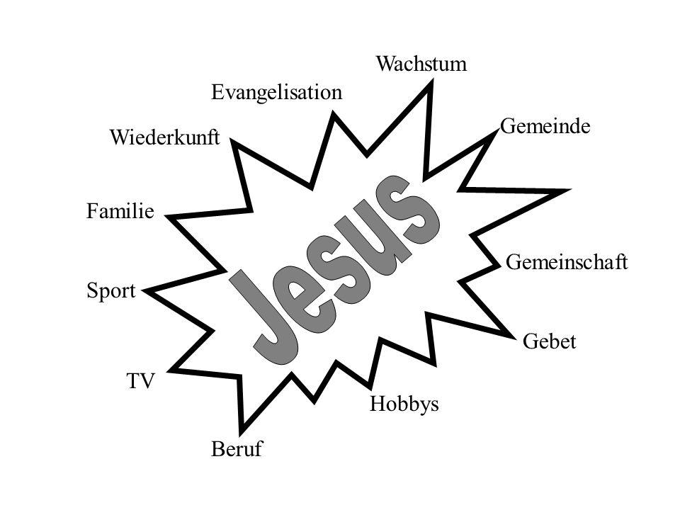 Wachstum Beruf Familie Sport Gemeinde Gemeinschaft Hobbys Gebet TV Evangelisation Wiederkunft
