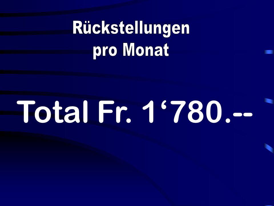 Total Fr. 1780.--