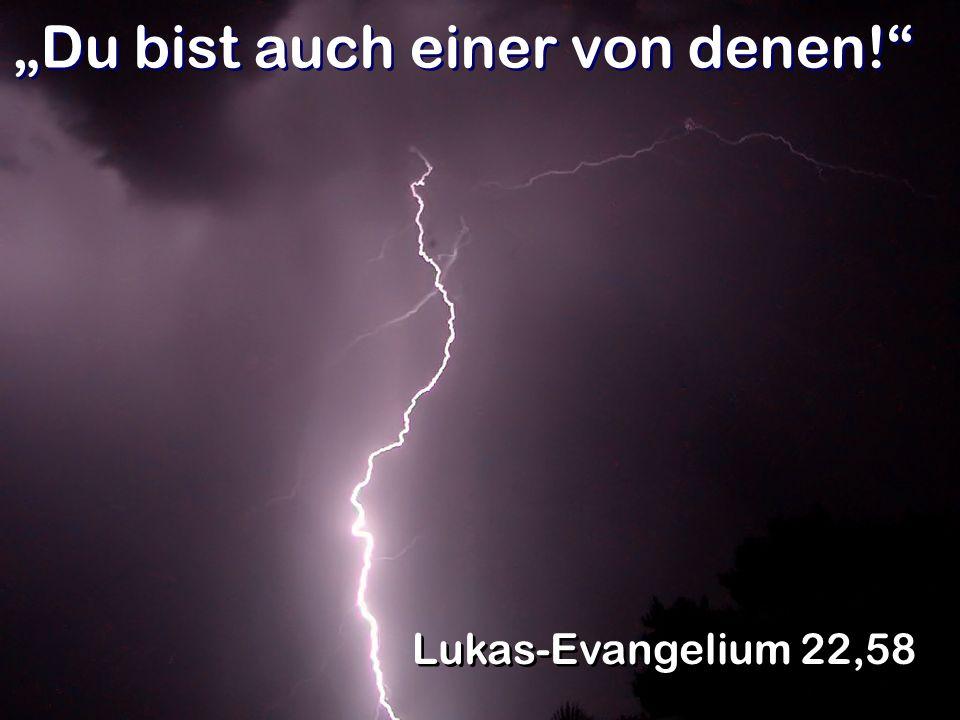 Das stimmt nicht! Lukas-Evangelium 22,58