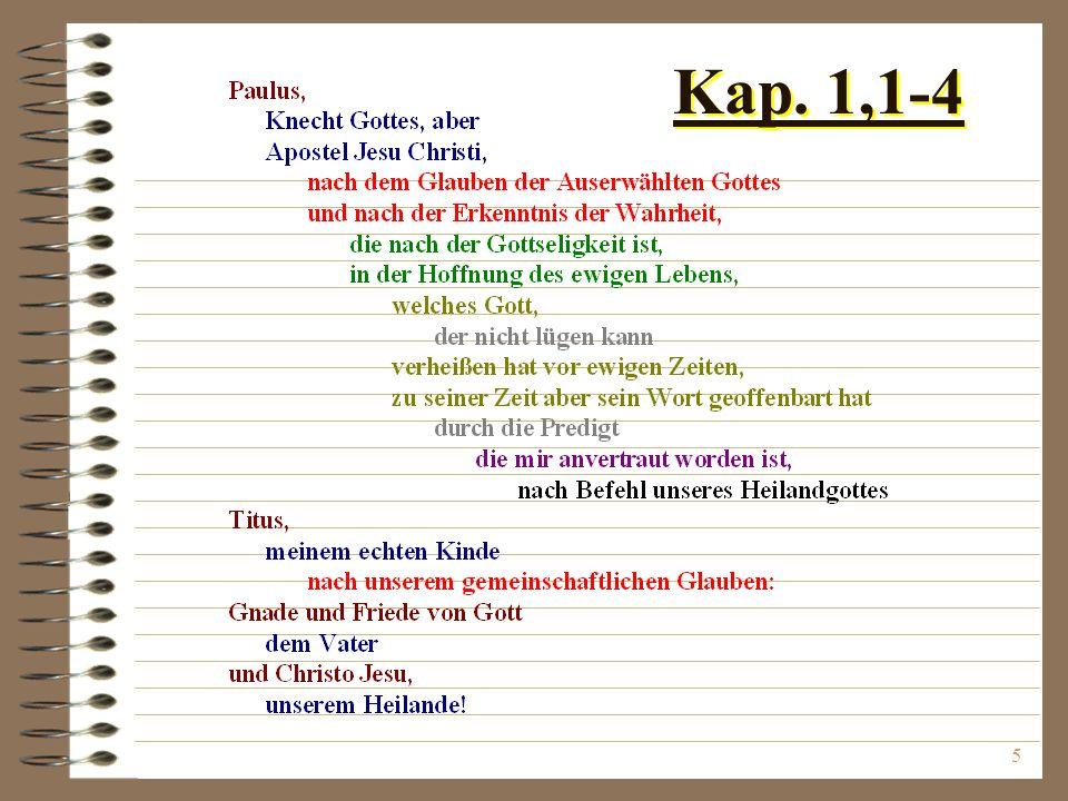 5 Kap. 1,1-4