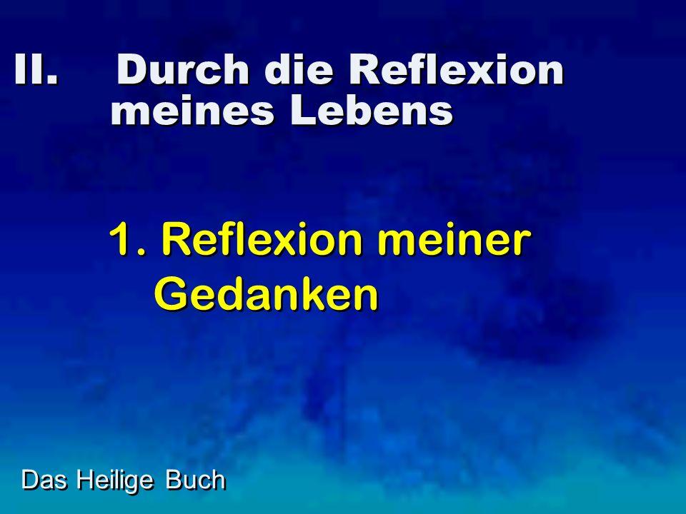 II. Durch die Reflexion meines Lebens Das Heilige Buch 1. Reflexion meiner Gedanken