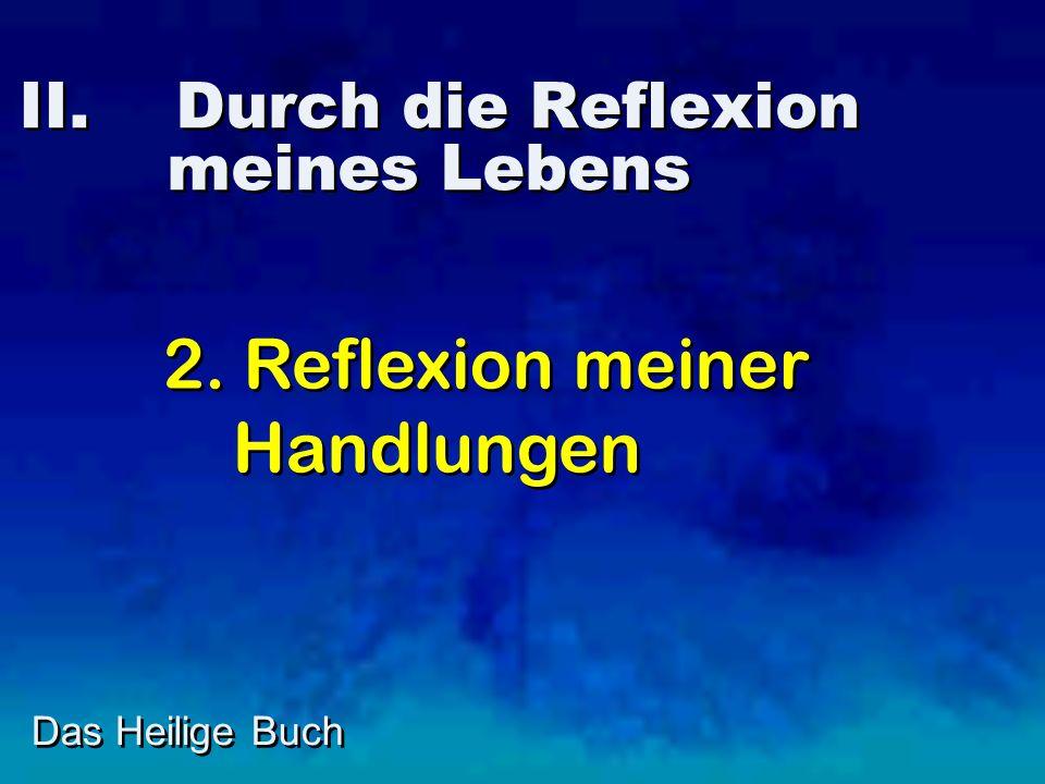 II. Durch die Reflexion meines Lebens Das Heilige Buch 2. Reflexion meiner Handlungen