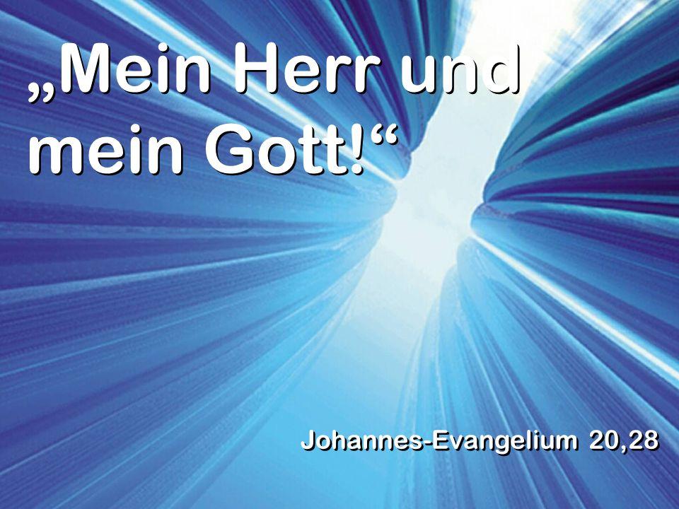 Mein Herr und mein Gott! Johannes-Evangelium 20,28