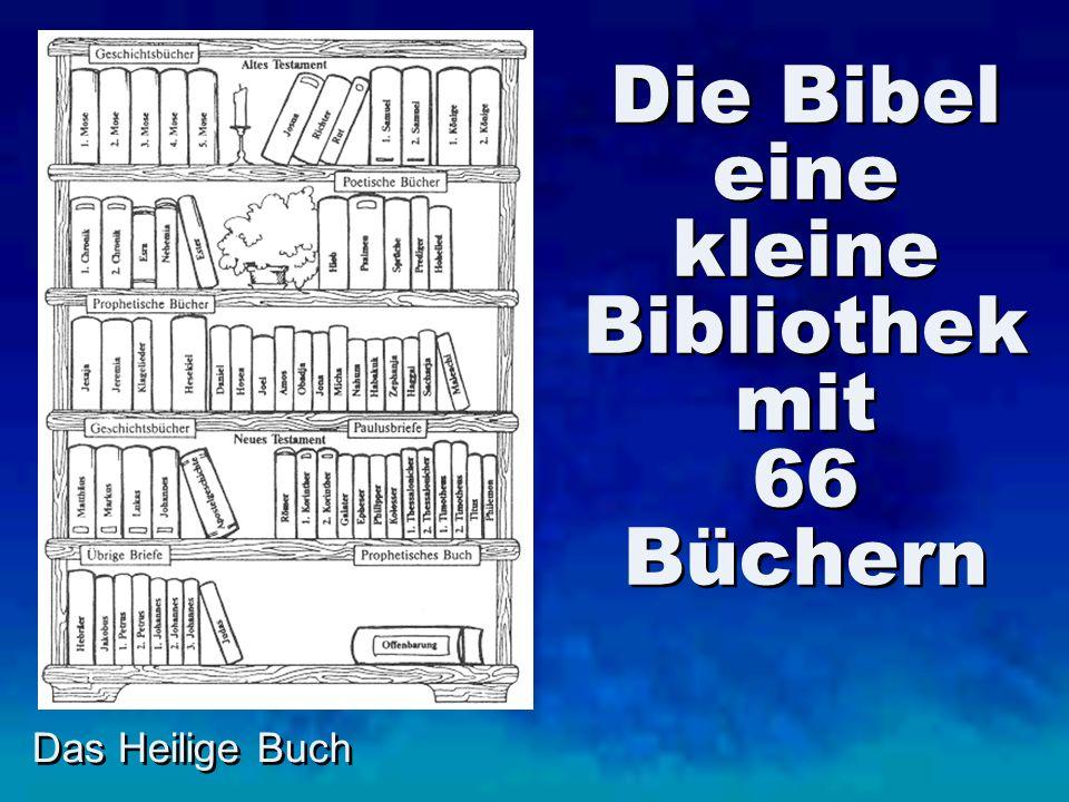 Das Heilige Buch Die Bibel eine kleine Bibliothek mit 66 Büchern