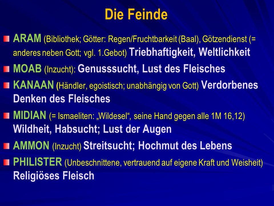 Die Feinde ARAM (Bibliothek; Götter: Regen/Fruchtbarkeit (Baal), Götzendienst (= anderes neben Gott; vgl.