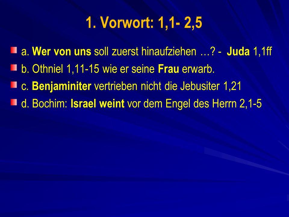 1.Vorwort: 1,1- 2,5 a. Wer von uns soll zuerst hinaufziehen ….
