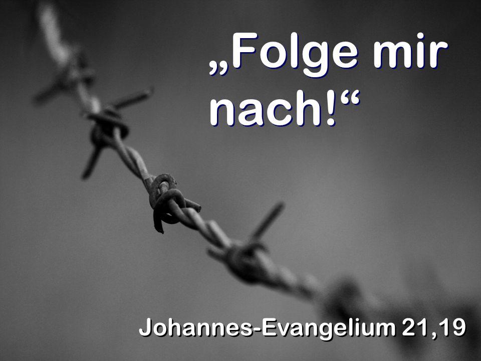 Folge mir nach! Johannes-Evangelium 21,19