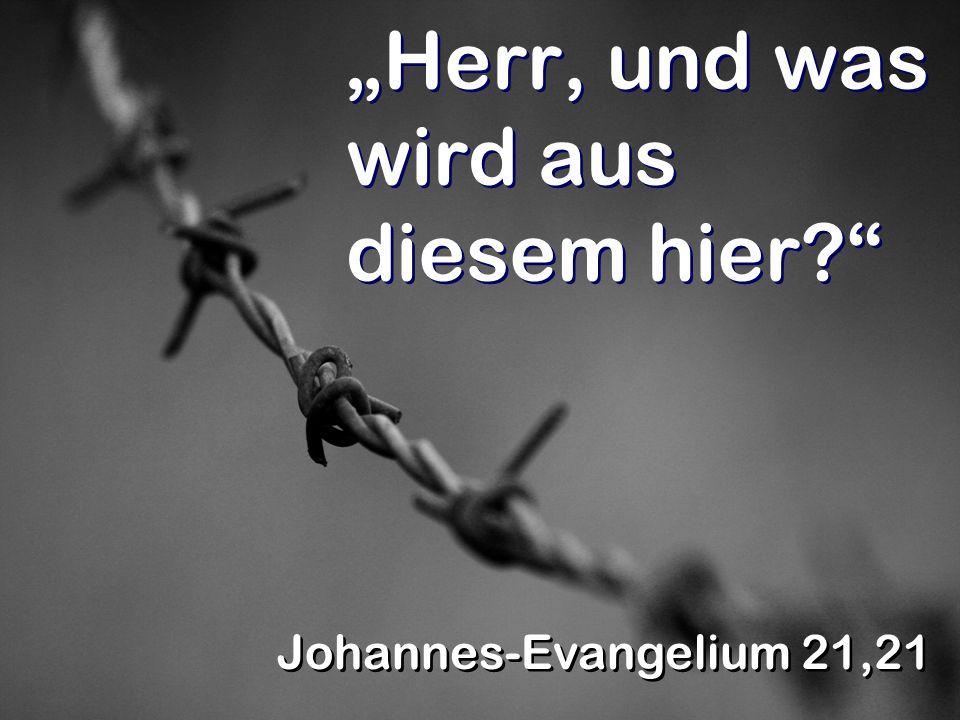 Herr, und was wird aus diesem hier? Johannes-Evangelium 21,21