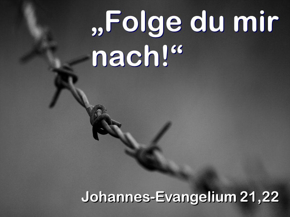 Folge du mir nach! Johannes-Evangelium 21,22