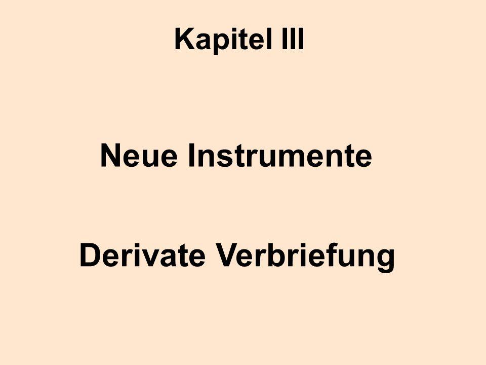 Neue Instrumente Derivate Verbriefung Kapitel III