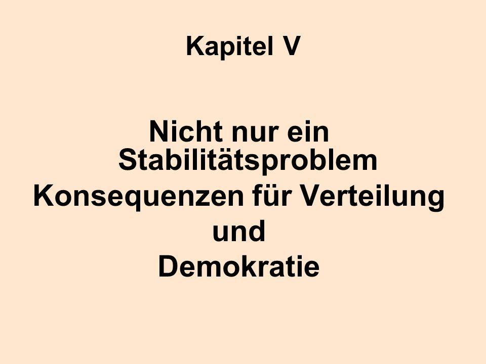 Kapitel V Nicht nur ein Stabilitätsproblem Konsequenzen für Verteilung und Demokratie