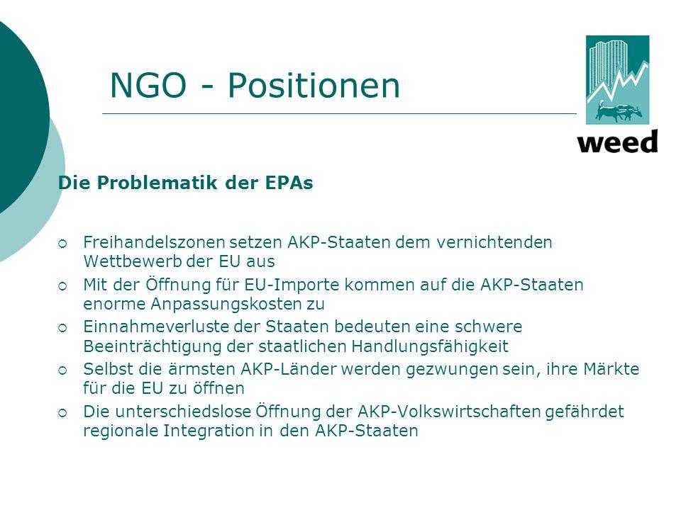 Das Kontinuum alternativer Szenarien zu EPAs => WTO-Kompatibilität gem.
